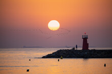 Sunrise At Guardamar Jetty In ...