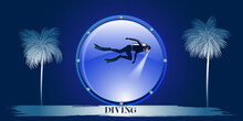 Underwater Sport - Diver With ...