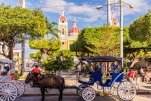 A Typical Scene In Granada In Nicaragua