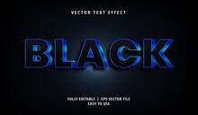 3D Black Text Effect, Editable Text Style