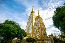Beautiful Golden Pagoda At Wat...