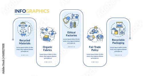 Fotografia, Obraz Ethical manufacturer vector infographic template