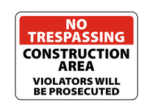 Construction Area Sign And Sym...