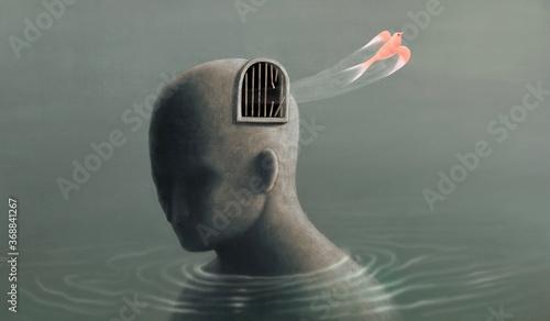 Fotografia, Obraz Freedom life courage faith mind and hope concept idea