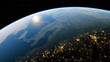 planet earth from space, realistic earth on a background of stars, earth globe 3d render