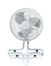 White Desktop Electric Fan Iso...