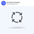 Recycle icon vector, filled flat sign, solid pictogram isolated on white, logo illustration. Recycle icon for presentation.