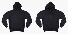 Blank Black Male Hooded Sweats...