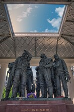 The RAF Bomber Command Memorial In Green Park In London