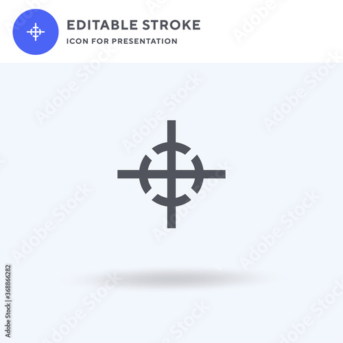 Tablou Canvas Center Of Gravity icon vector, filled flat sign, solid pictogram isolated on white, logo illustration