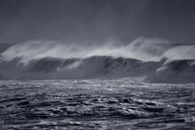Windy Wave With Spray