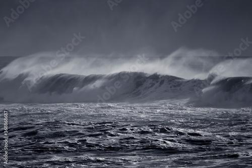 Fotografija Windy wave with spray