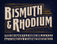 Vector Font Alphabet; Bismuth ...