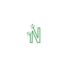 Letter N Logo Design Frog Foot...