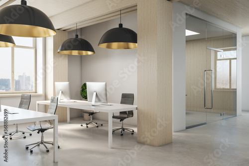 Obraz Contemporary coworking office interior - fototapety do salonu