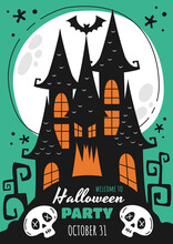Halloween Poster For A Party C...