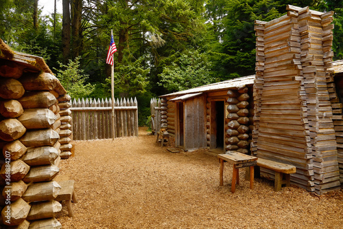 Photo Fort Clatsop National Memorial, the end of the Lewis & Clark expedition, winter