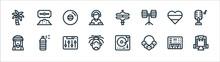 Reggae Line Icons. Linear Set....