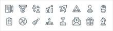 Job Promotion Line Icons. Line...