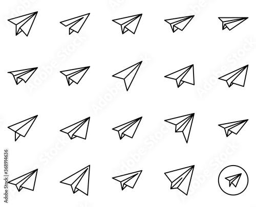 Fotografiet Paper airplane line icon