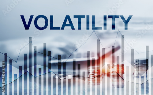 Obraz Volatility Financial Markets Concept. Stock and Trading Concept. - fototapety do salonu