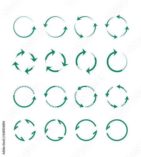 Obraz na płótnie Circular and swirling arrows set
