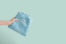 Female Hand With Stylish Jeans...