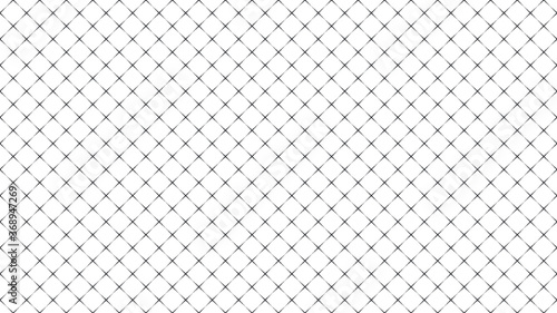 Fotografiet Wireframe mesh grid digital landscape with linear halftone dots
