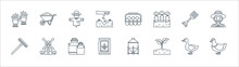 Agriculture Line Icons. Linear...