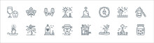 Spooky Halloween Line Icons. L...