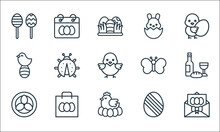 Easter Line Icons. Linear Set....