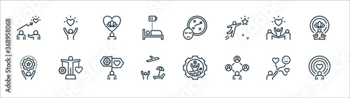 work life balance line icons Canvas