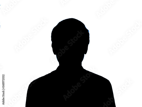 contrasted person on white background Wallpaper Mural