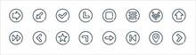 Arrow Line Icons. Linear Set. ...