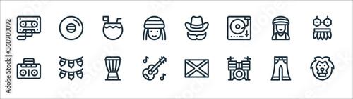 Fotografie, Obraz reggae line icons