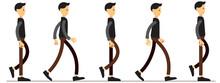 Animation Of Human Gait. Anima...