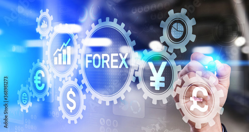 Fotomural Forex trading Currencies exchange stock market Investment business concept on virtual screen