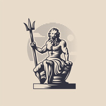 God Poseidon Or Neptune.