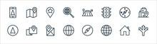 Navigation Line Icons. Linear ...