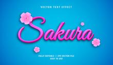 3D Sakura Text Effect, Editable Text Style