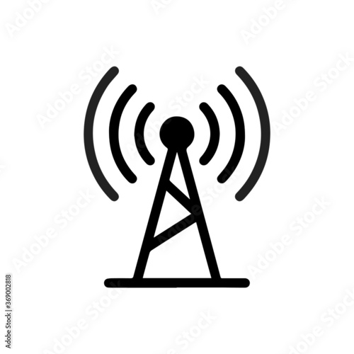 vector illustration of network antenna and wifi glyph icon Fototapet