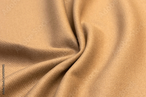 Fotografía Expensive velour beige fabric, cashmere textile, velvet suede and chamois effect, cotton upholstery, synthetic materials, polyester fiber