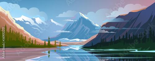 Obraz na płótnie Beautiful nature, natural landscape