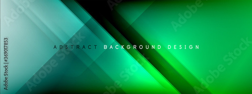 Fototapety, obrazy: Motion concept neon shiny lines on liquid color gradients abstract backgrounds. Dynamic shadows and lights templates for text