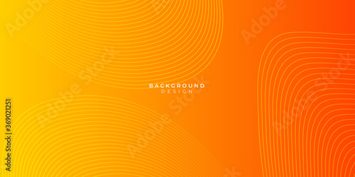 Abstract yellow and orange warm tone background with simply curve lighting eleme Slika na platnu
