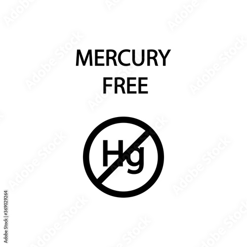 The inscription does not contain a mercury sign Fotobehang
