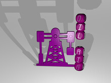 3D Illustration Of OIL RIG Gra...