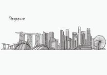 Singapore Detailed Skyline. Si...