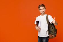 Cheerful Teen Boy With Backpac...