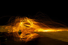 A Ring Of Fire Spinning Steel ...